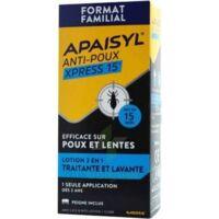 Apaisyl Anti-poux Xpress 15' Lotion Antipoux Et Lente 200ml+peigne à Dijon